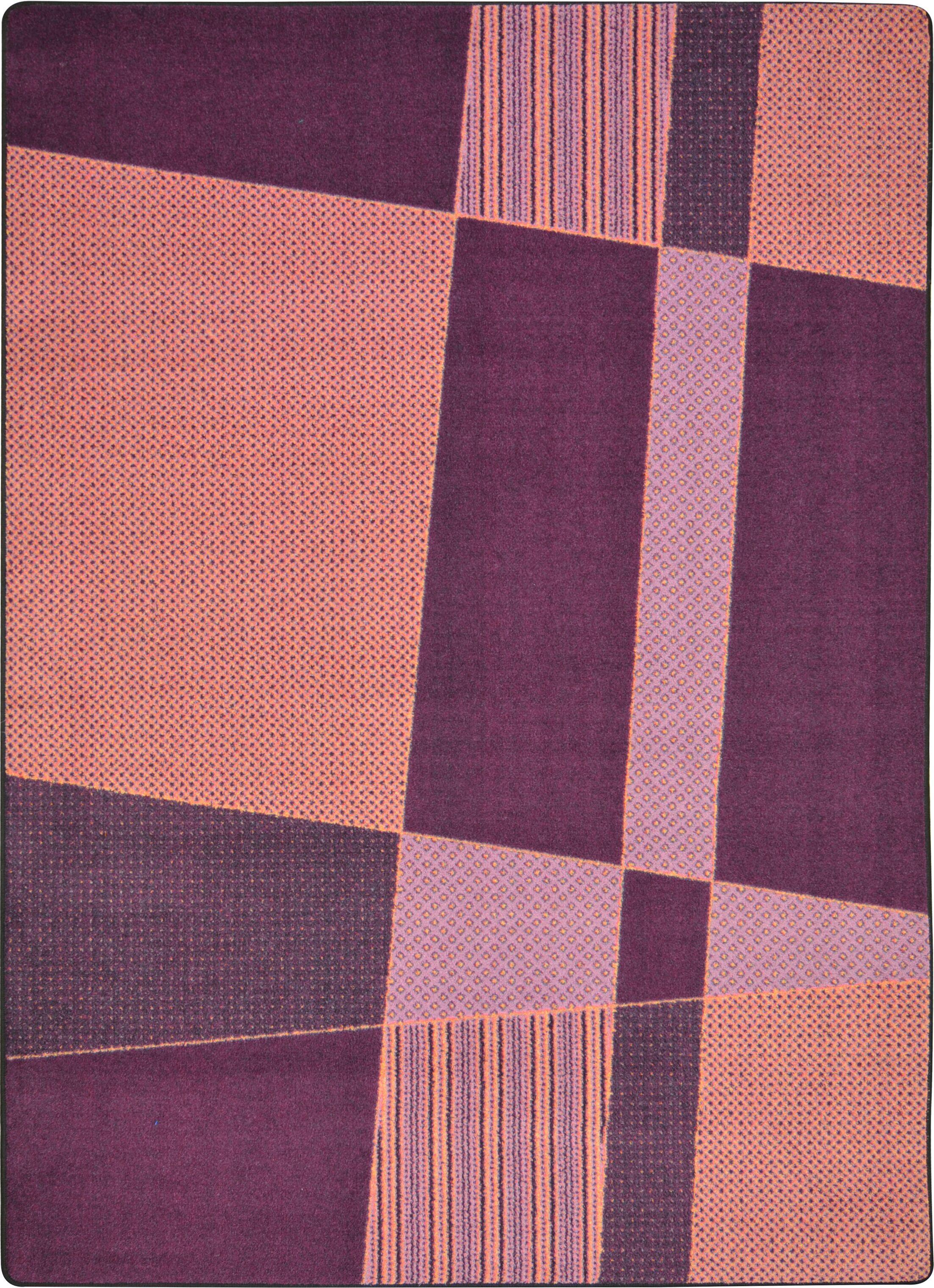 Hand-Tufled Purple/Pink Area Rug Rug Size: 3'10