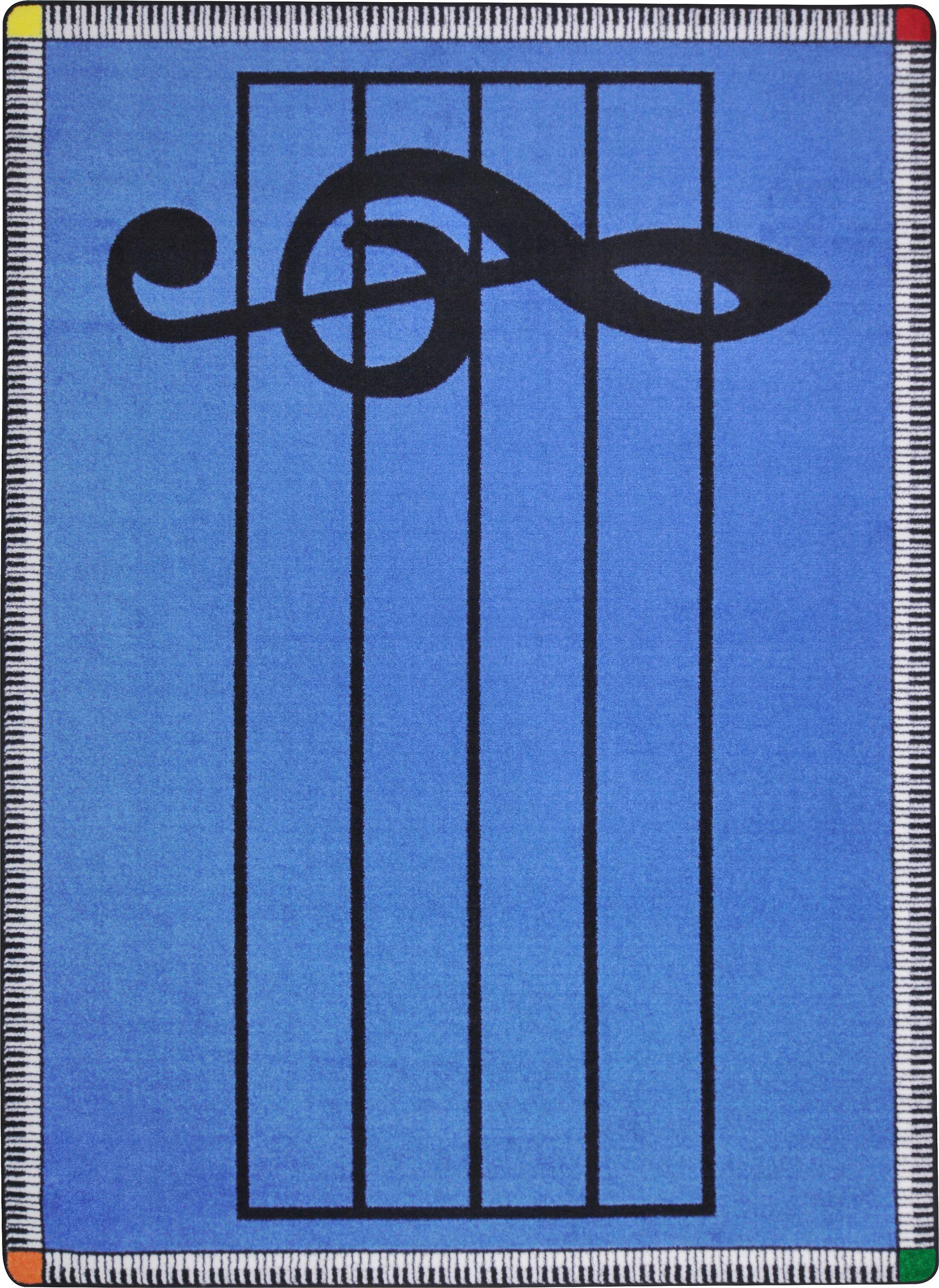 Blue Area Rug Rug Size: Rectangle 5'4