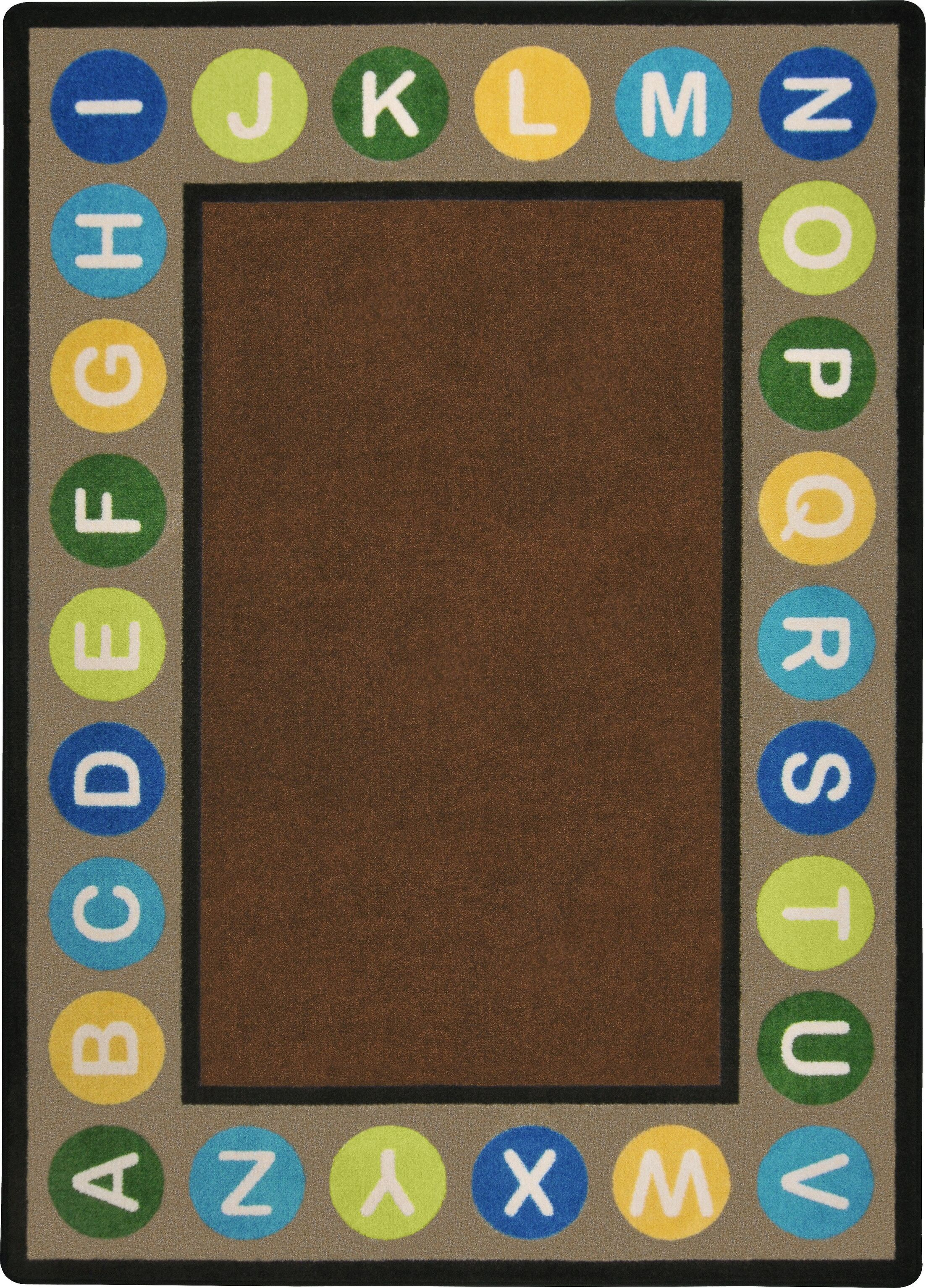 Brown Area Rug Rug Size: Rectangle 7'8