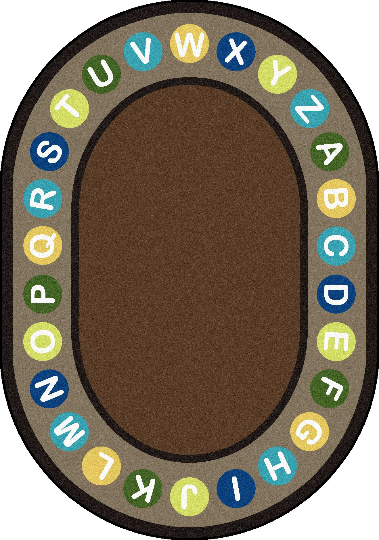 Brown Area Rug Rug Size: Oval 5'4
