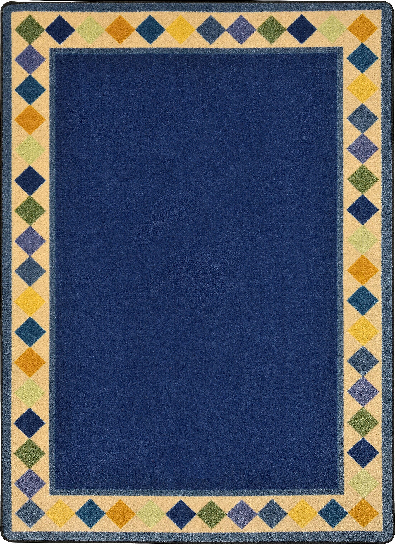 Blue Area Rug Rug Size: Oval 3'10