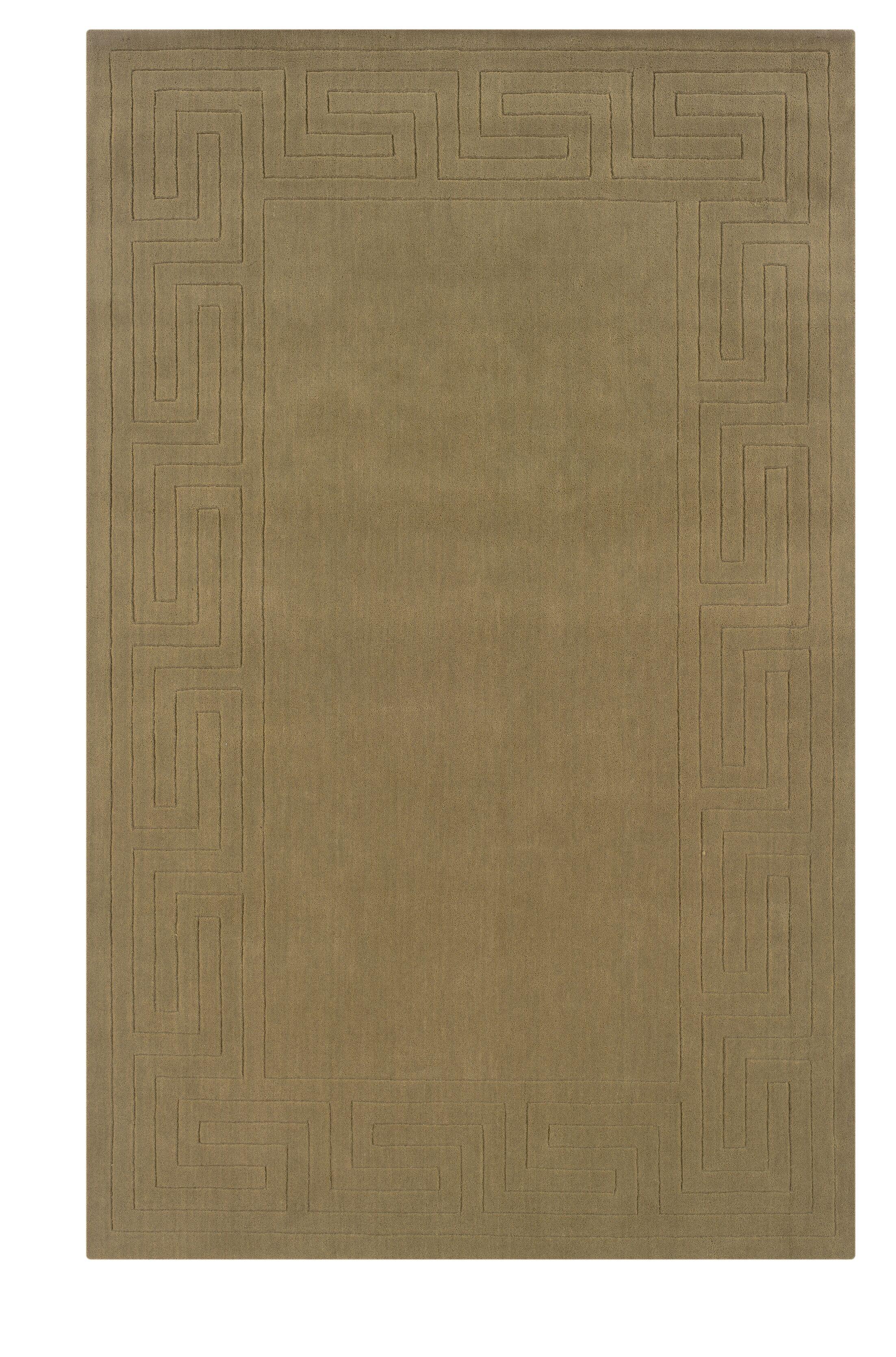 Hand-Woven Beige Area Rug Rug Size: Rectangle 8' x 10'1