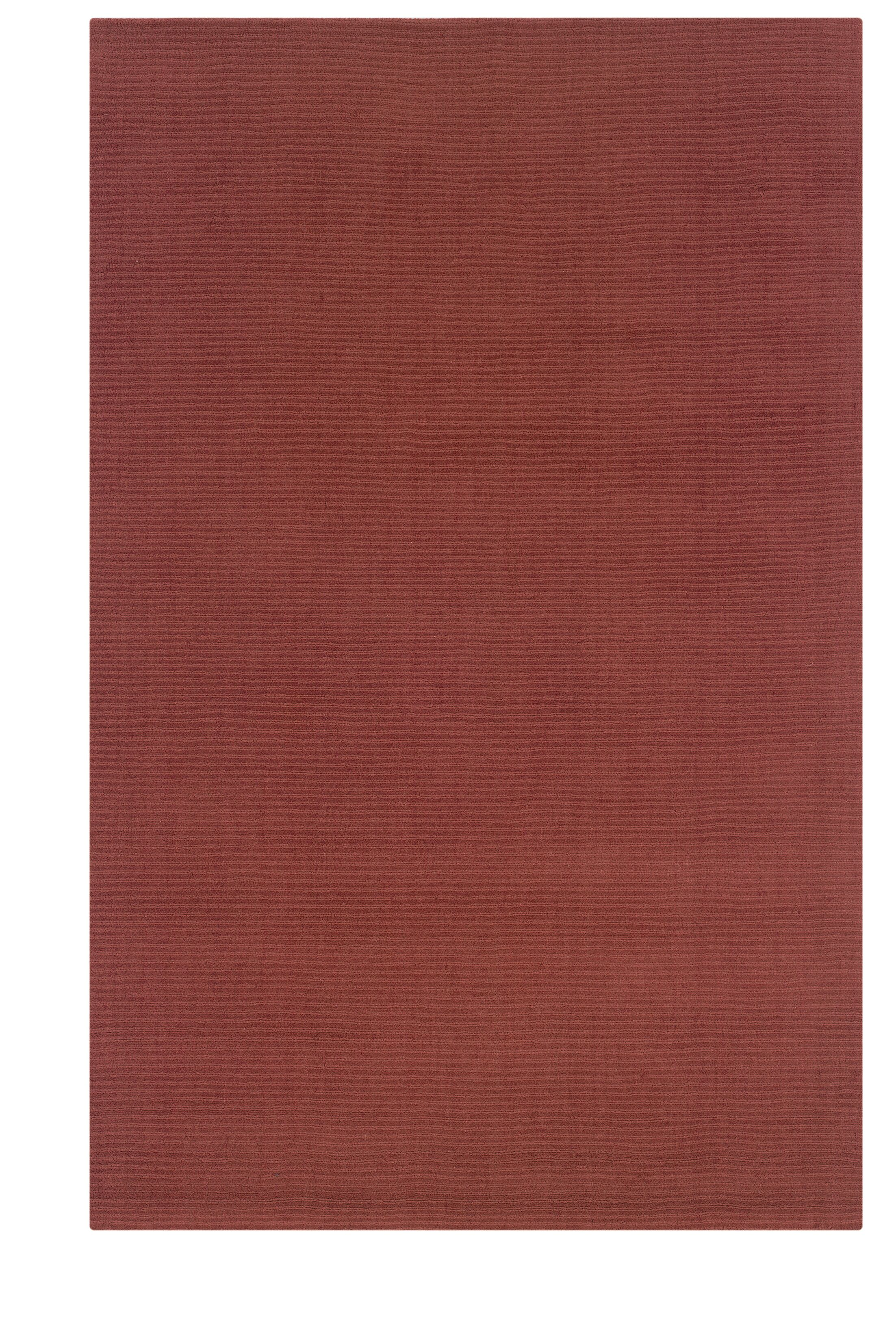 Hand-Woven Red Area Rug Rug Size: Rectangle 8' x 10'1