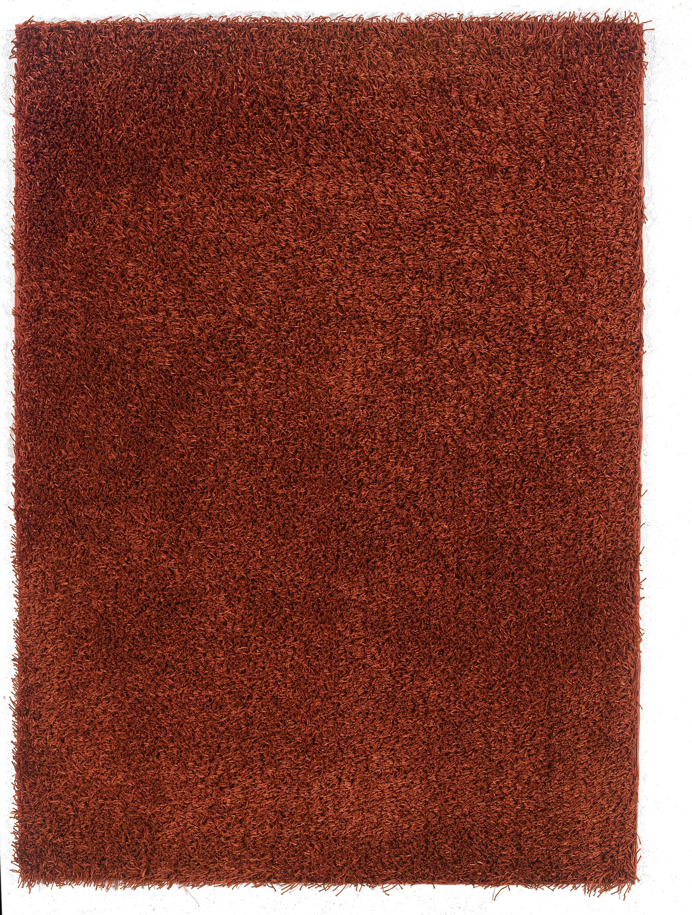 Hand-Tufted Red Area Rug Rug Size: Rectangle 8' x 10'