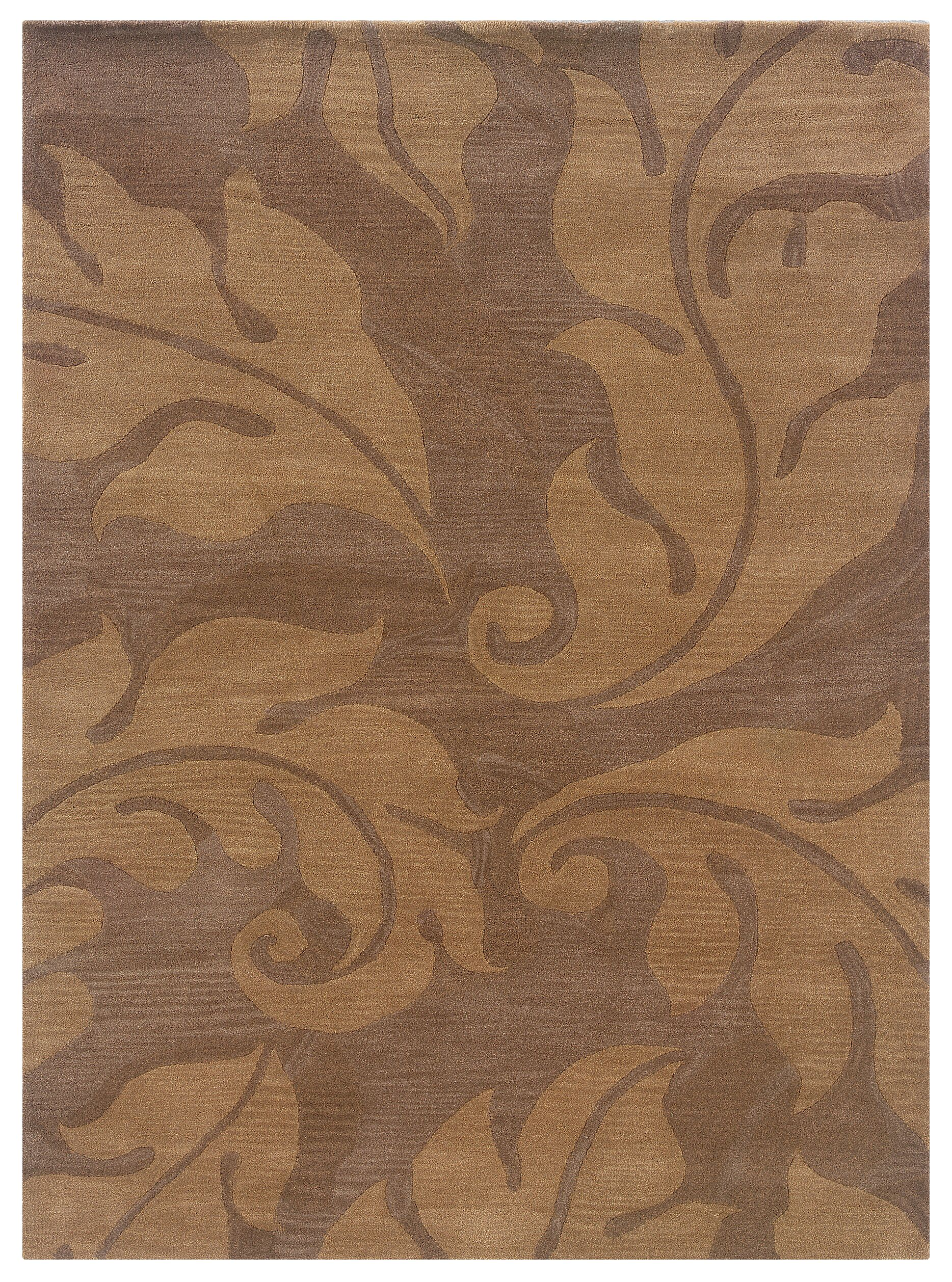 Hand-Tufted Beige/Gold Area Rug Rug Size: Rectangle 5' x 7'