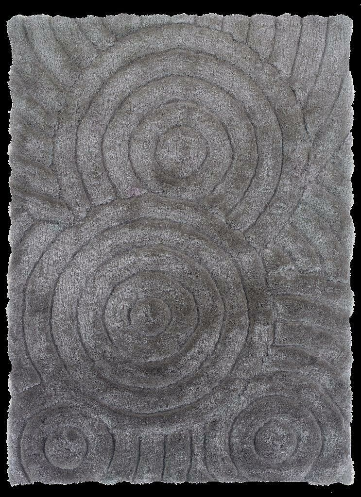 Hand-Tufted Gray Area Rug Rug Size: Rectangle 5' x 7'