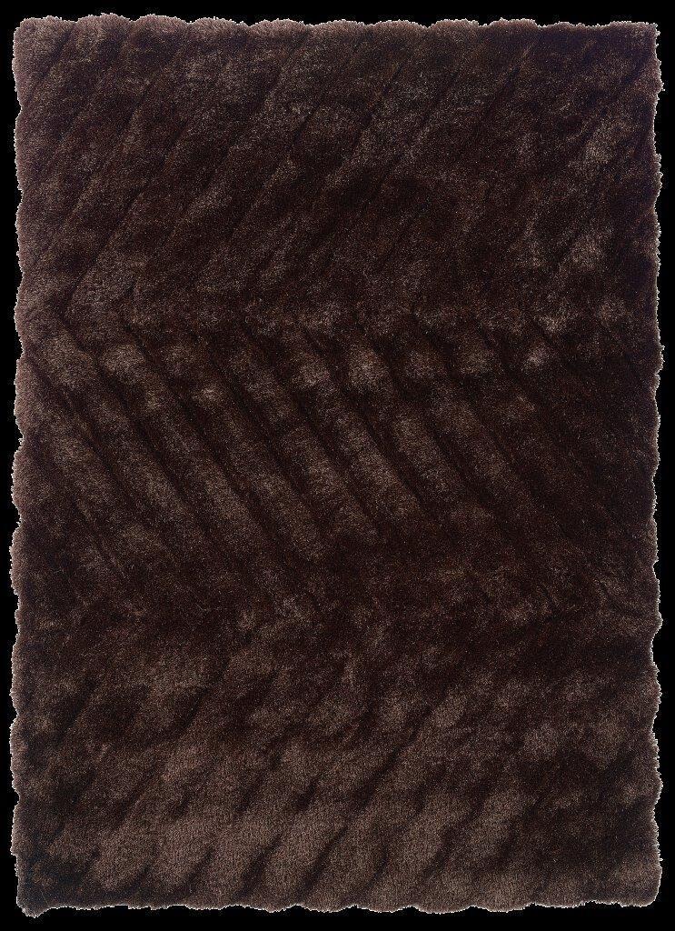 Hand-Tufted Chocolate Area Rug Rug Size: Rectangle 8' x 10'