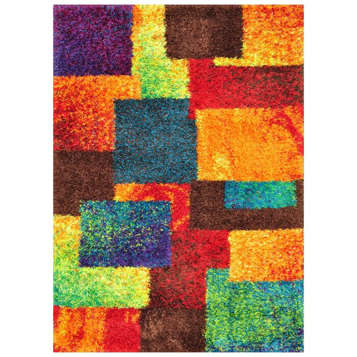 Fitzsimons Orange/Blue Area Rug Rug Size: Rectangle 7'7