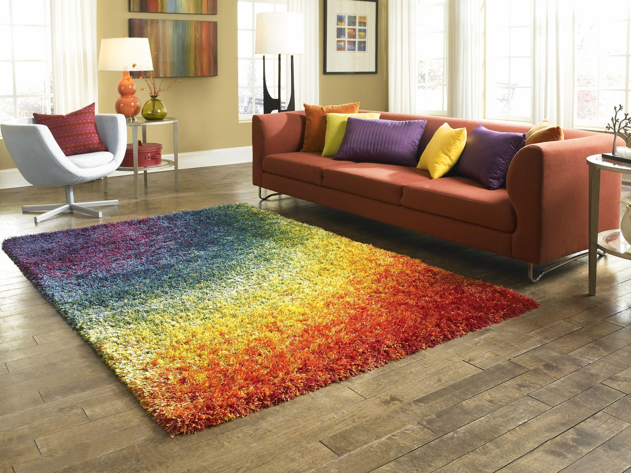 Fitzsimons Purple/Green/Orange Indoor/Outdoor Area Rug Rug Size: Rectangle 3'9