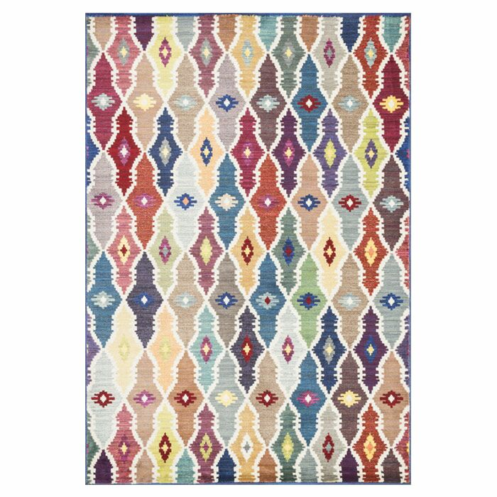 Thoi Red/Blue Area Rug Rug Size: Rectangle 5'2