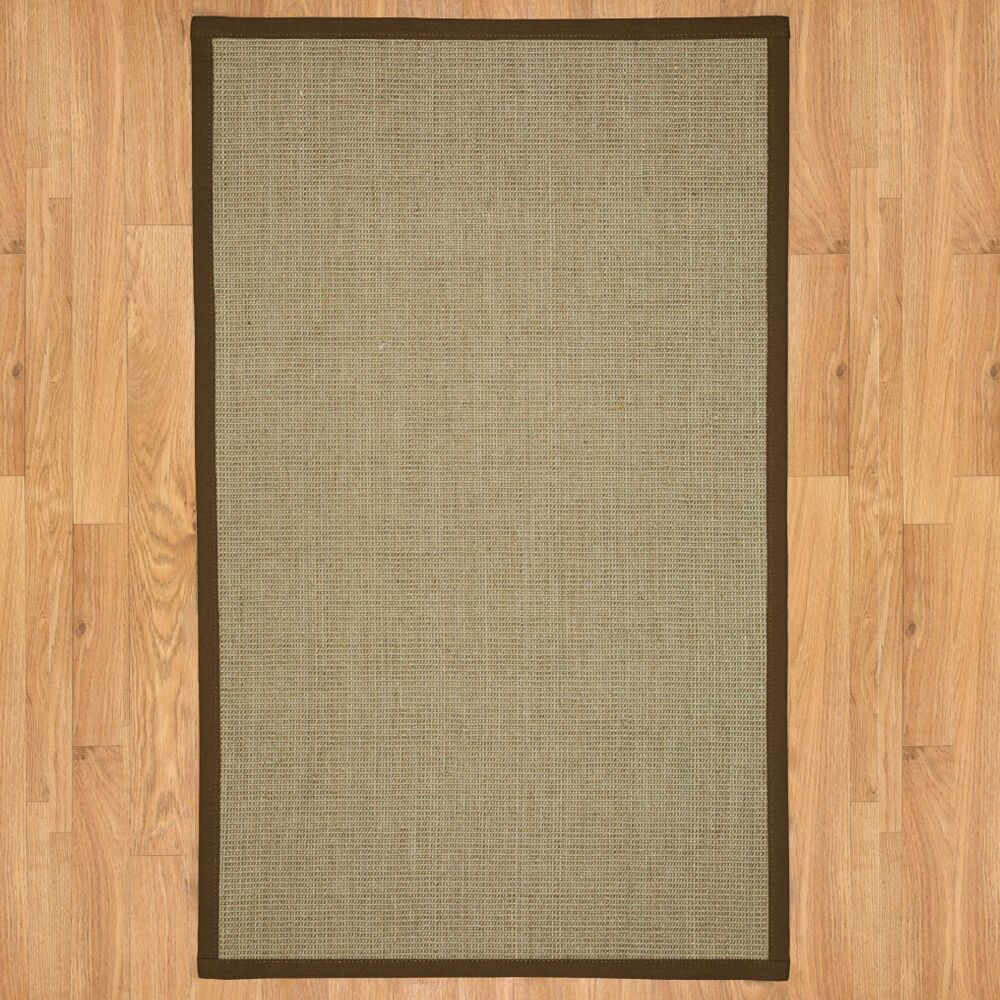 Hand-Woven Tan Area Rug Rug Size: Rectangle 4' x 6'