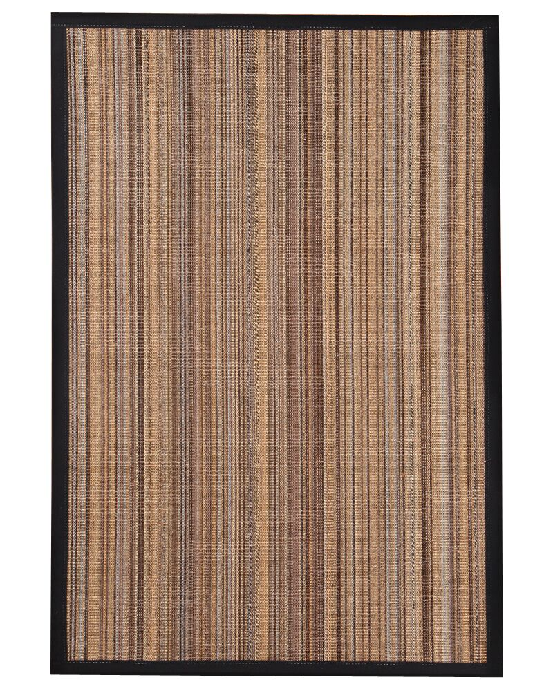 HandWoven Brown/Gray/Black Area Rug Rug Size: Rectangle 4' x 6'