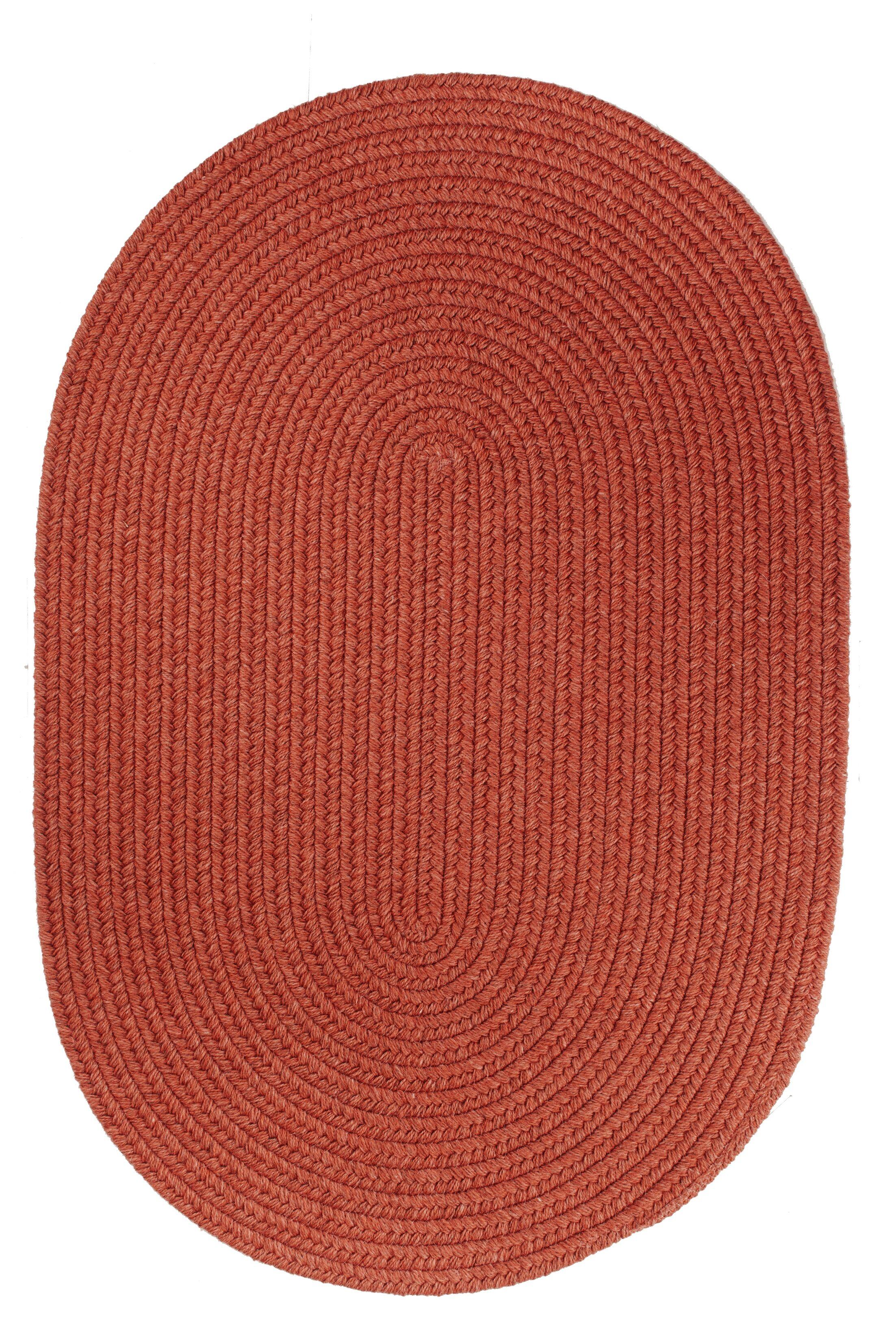 Handmade Terra Cotta Area Rug Rug Size: Oval  8' x 11'