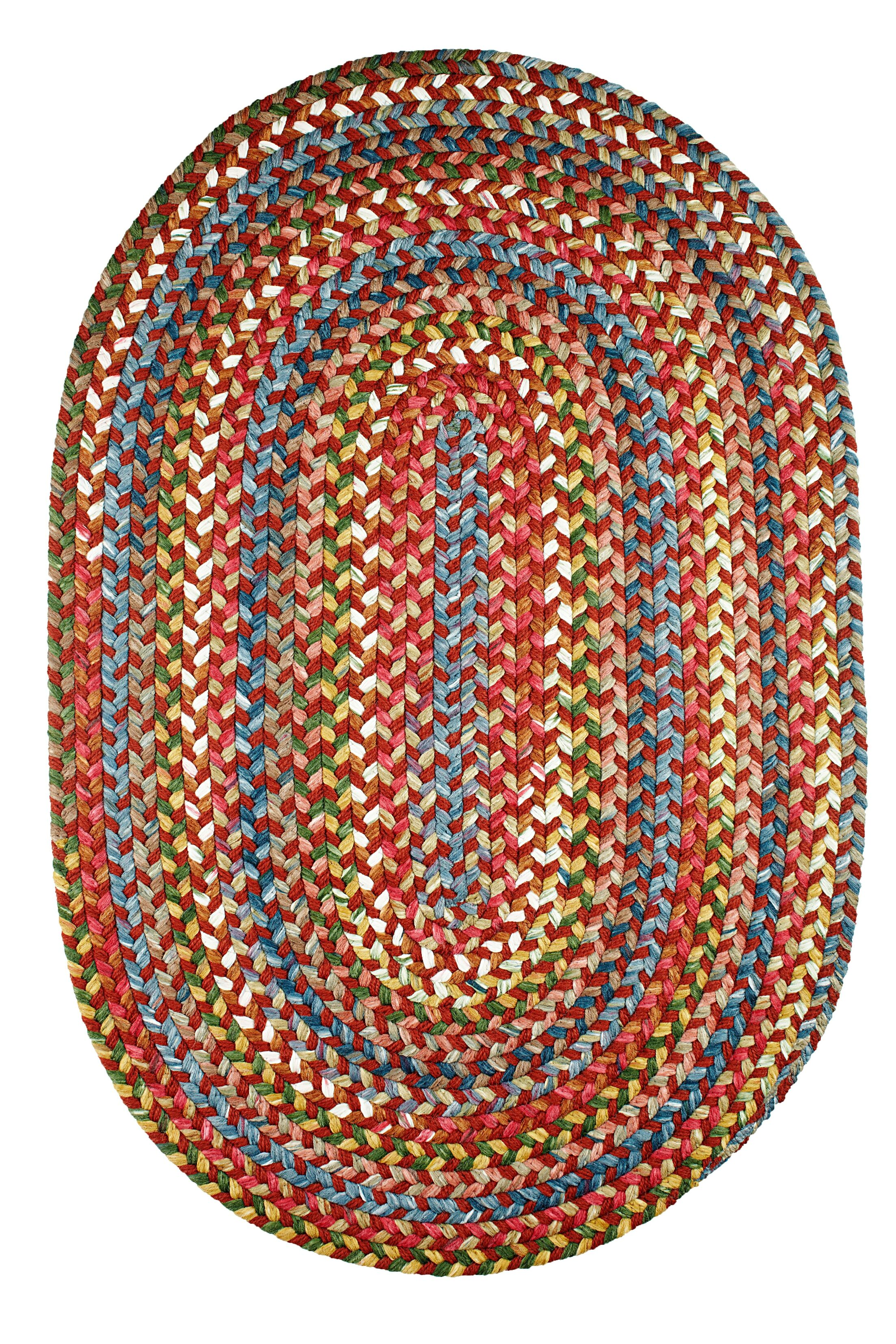 Handmade Tawny Port Indoor/Outdoor Area Rug Rug Size: Oval 10' x 13'