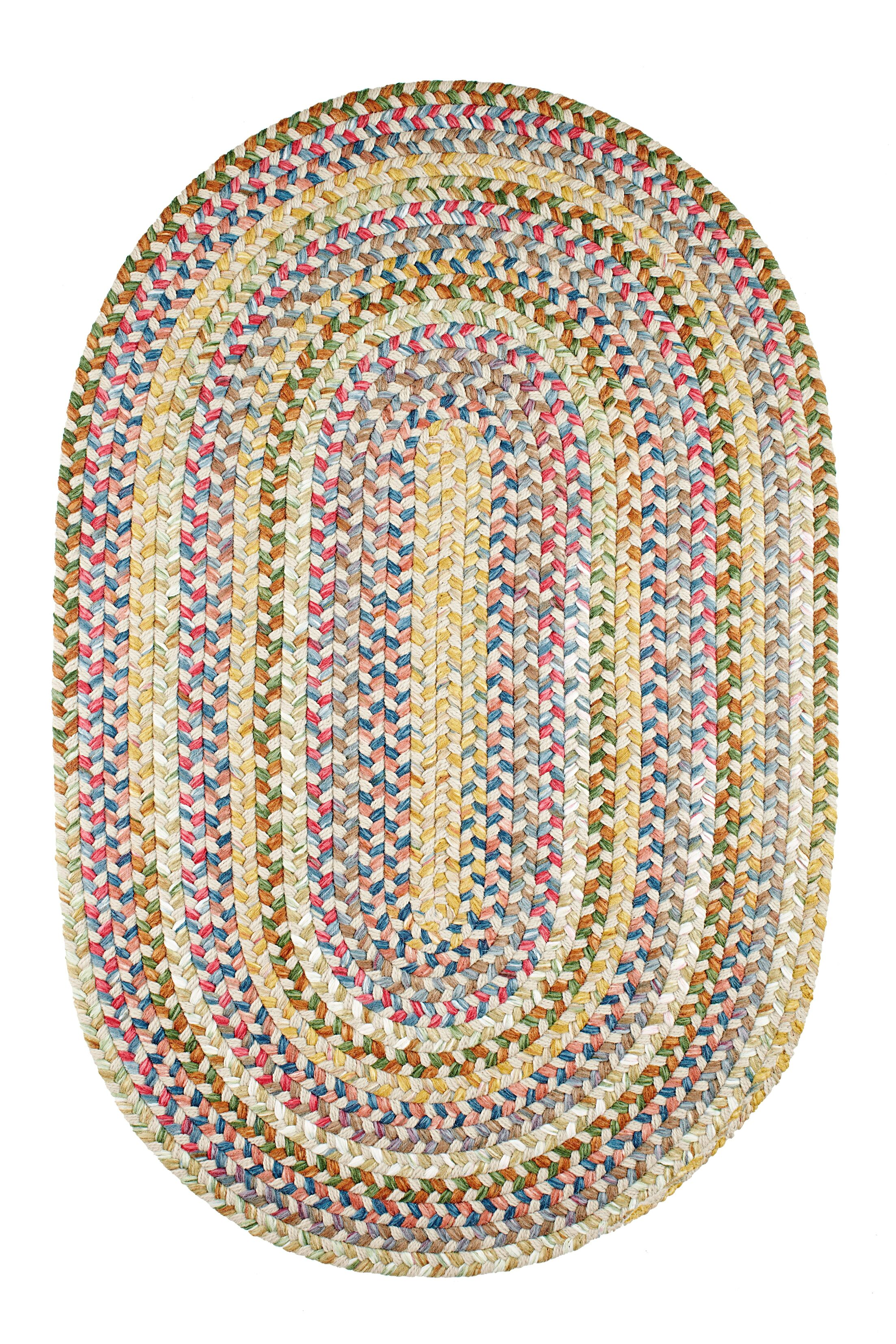 Handmade Indoor/Outdoor Rug Rug Size: Oval 5' x 8'
