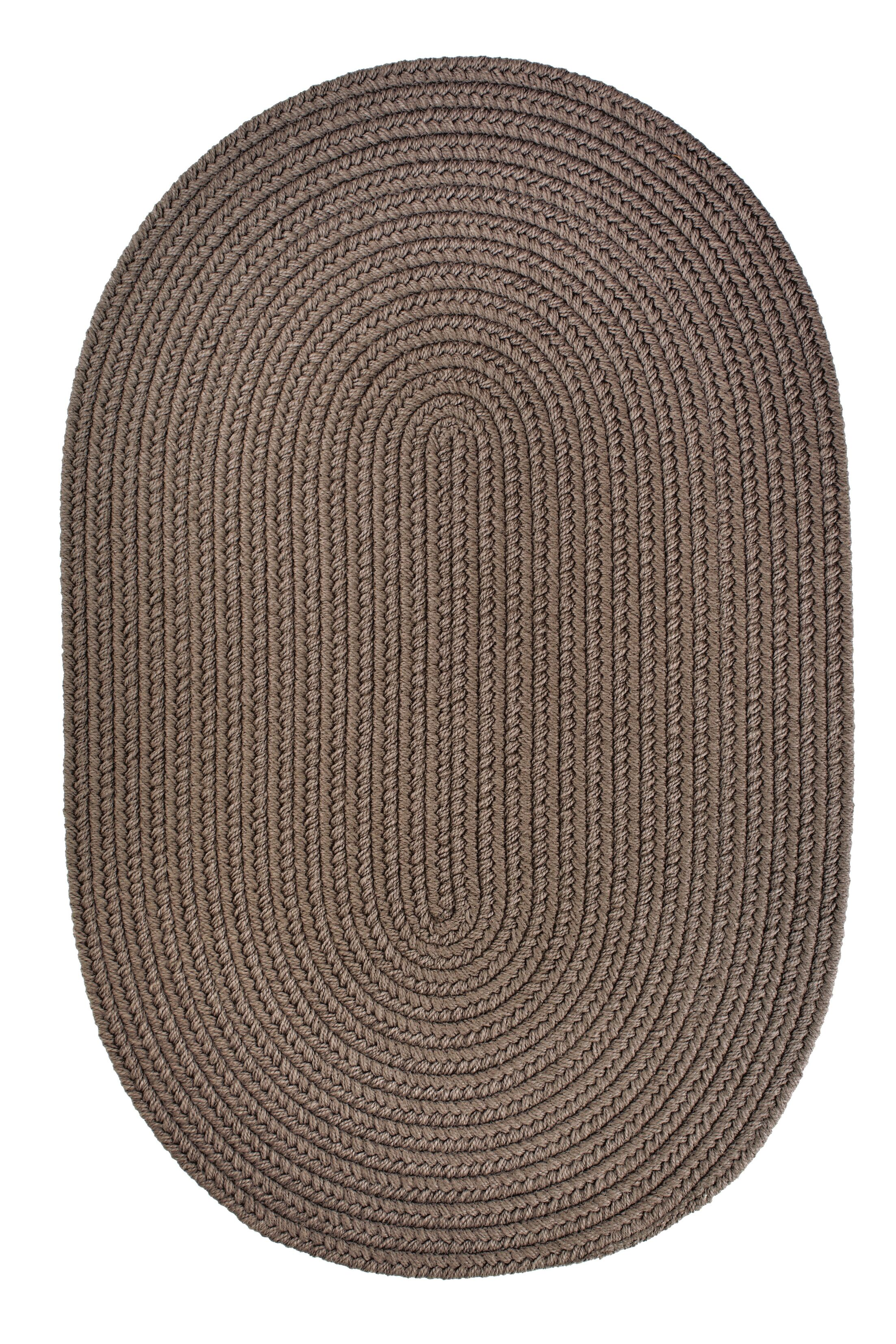 Handmade Dark Taupe Indoor/Outdoor Area Rug Rug Size: Runner 2' x 8'
