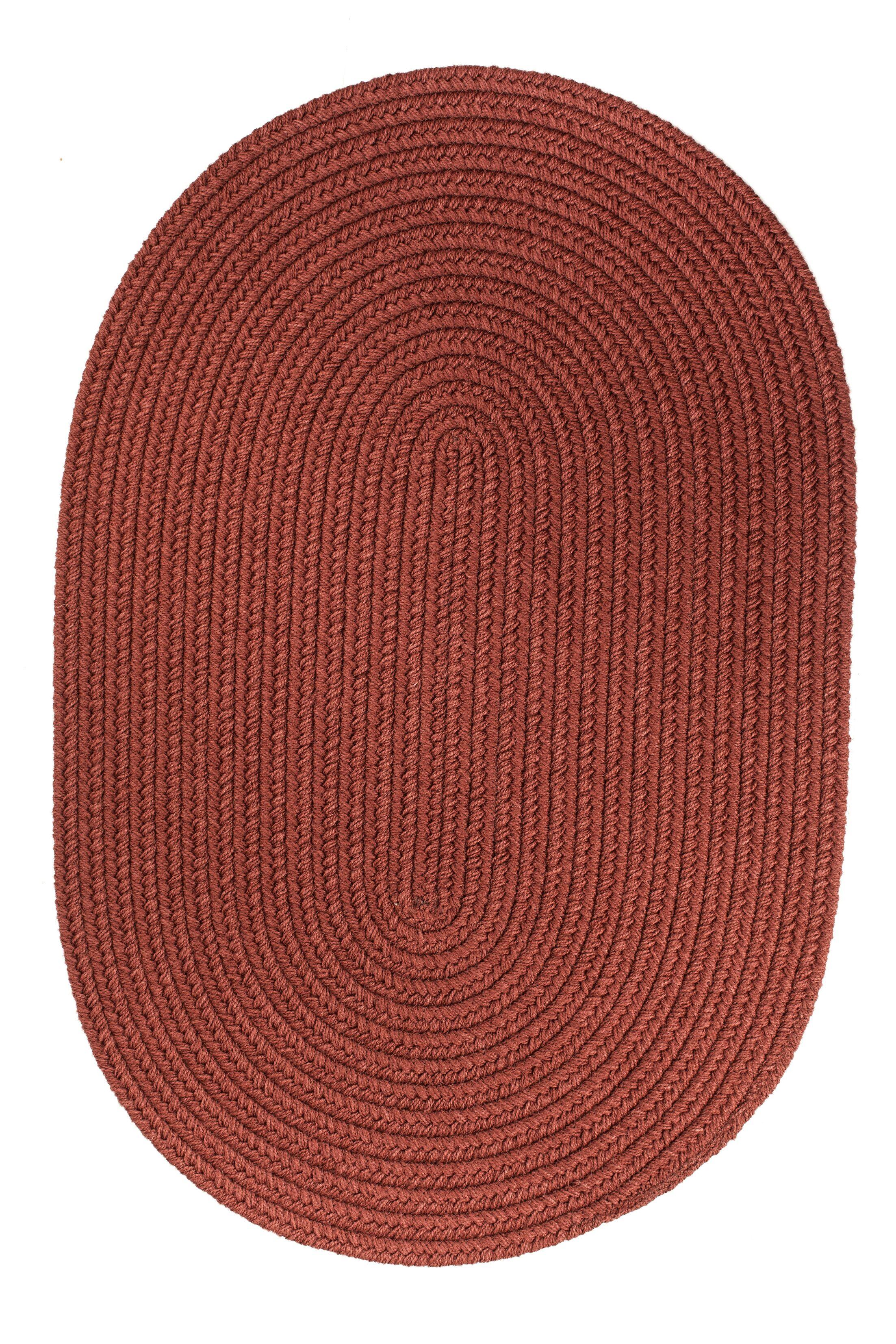 Handmade Terra Cotta Indoor/Outdoor Area Rug Rug Size: Round 4'