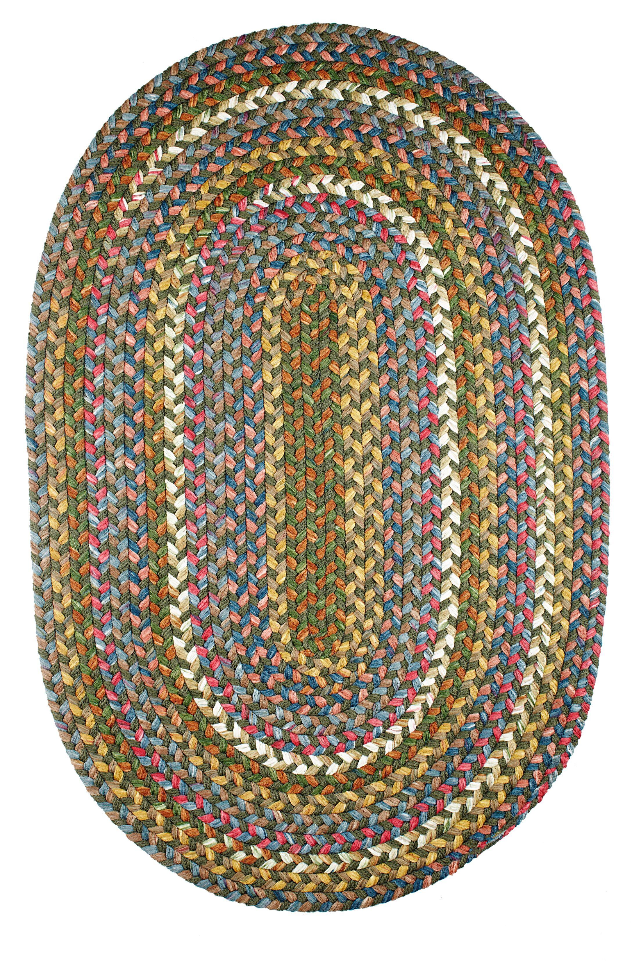 Handmade Indoor/Outdoor Area Rug Rug Size: Oval 7' x 9'