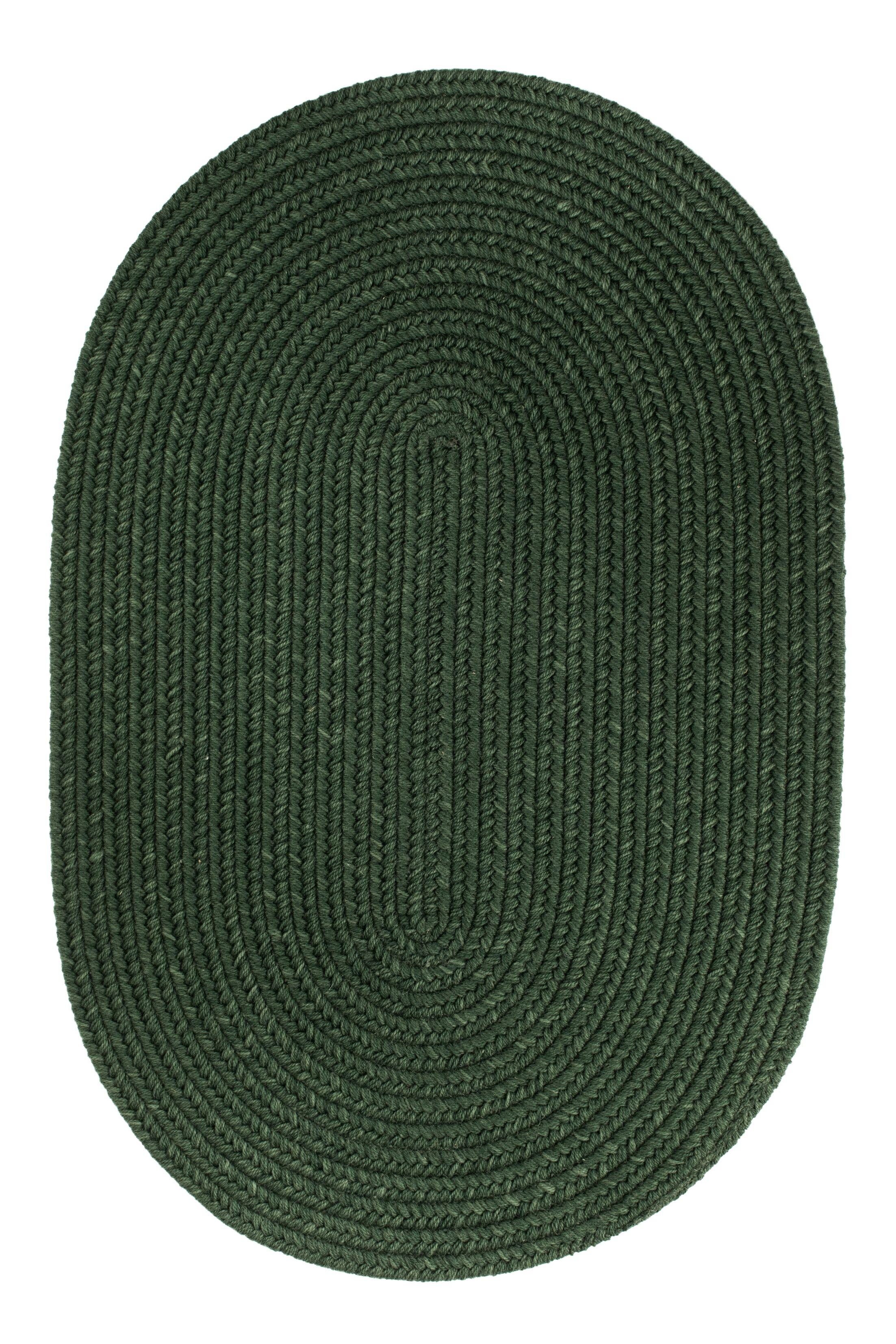 Handmade Hunter Green Area Rug Rug Size: Round 8'