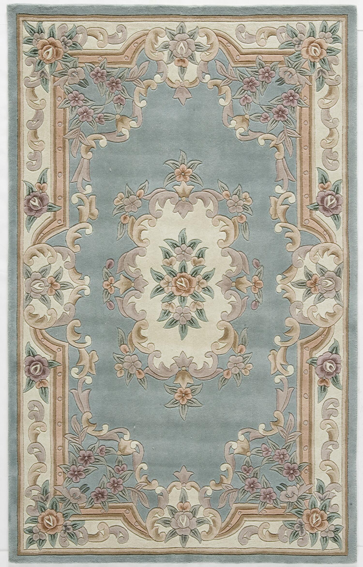 Hand-Tufted Wool Light Green Area Rug Rug Size: Rectangle 4' x 6'