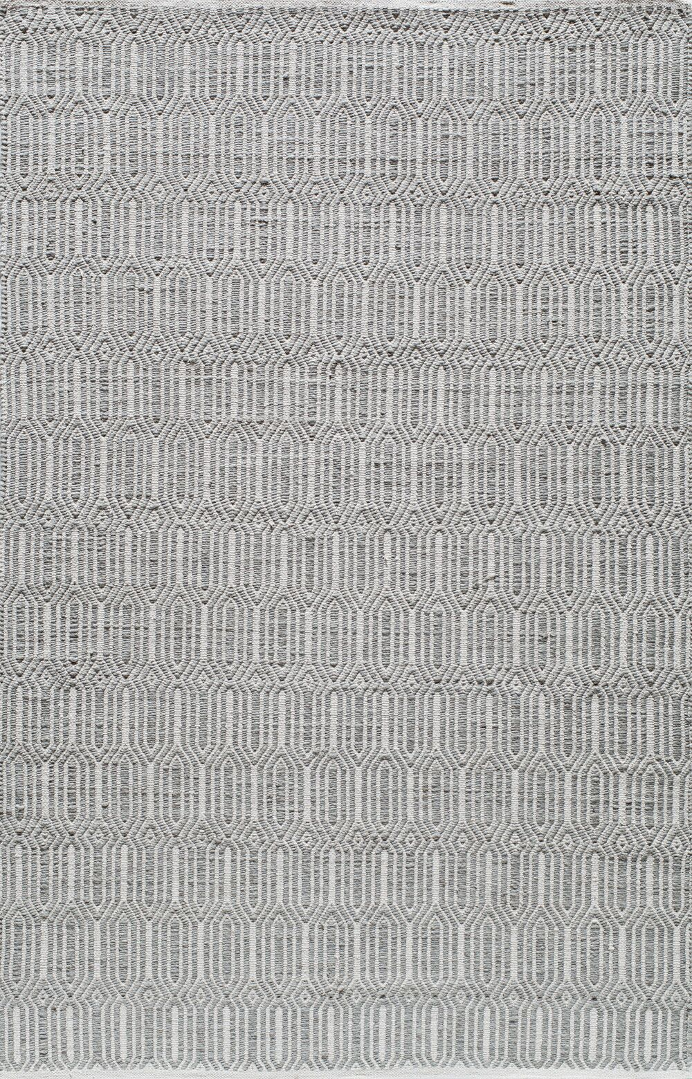 Hand-Woven Silver Area Rug Rug Size: Rectangle 5' x 8'