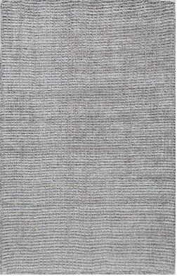 Hand-Tufted Silver Area Rug Rug Size: Rectangle 5' x 8'