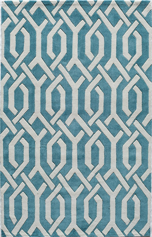 Hand-Tufted Aqua Area Rug Rug Size: Rectangle 5' x 8'