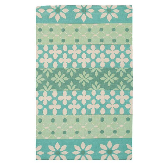 Hand-Woven Green Area Rug Rug Size: Rectangle 5' x 8'