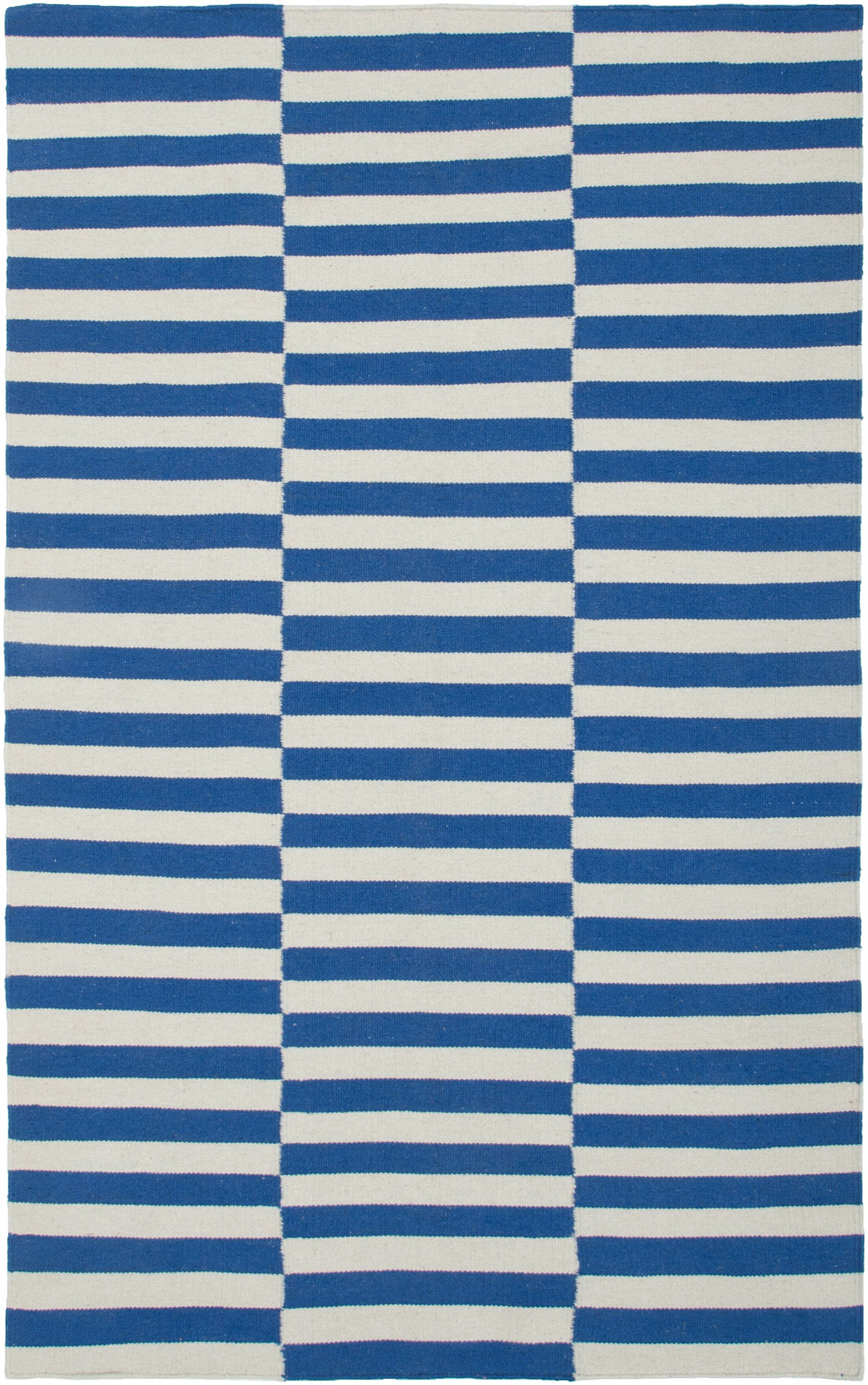 Hand-Woven Blue Area Rug Rug Size: Rectangle 5' x 8'
