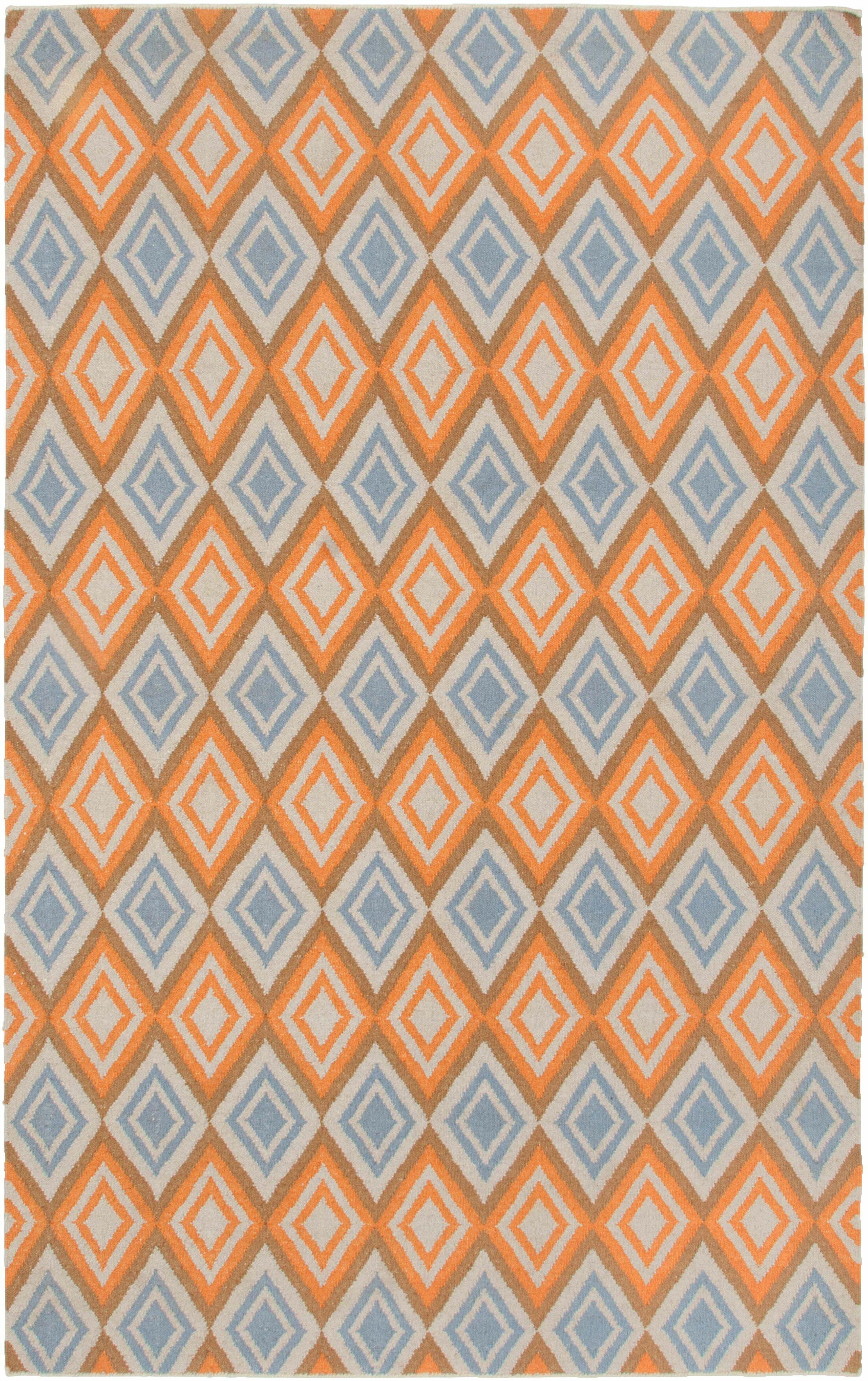 Hand-Woven Rust Area Rug Rug Size: Rectangle 8' x 10'