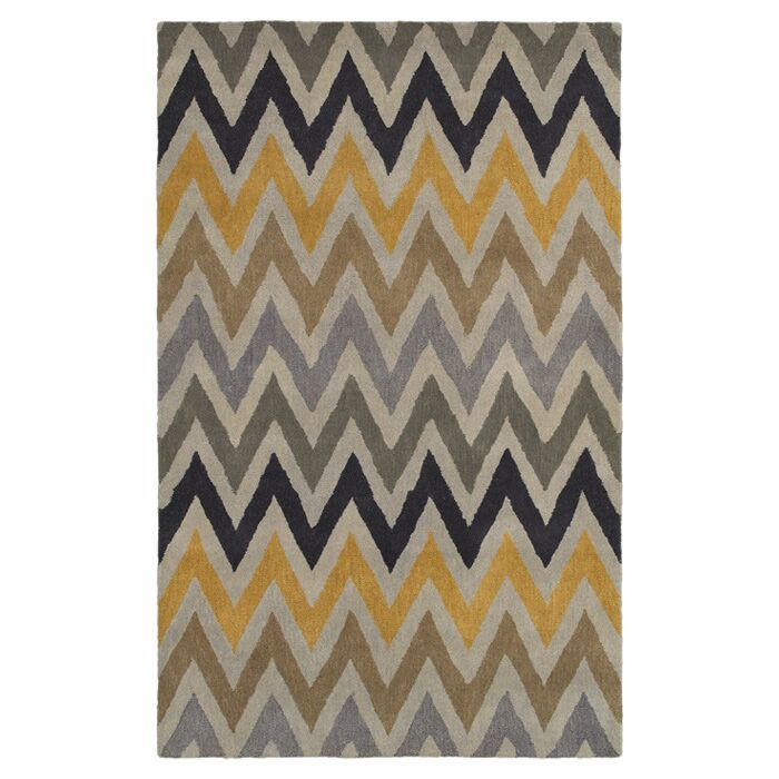 Hand-Tufted Area Rug Rug Size: Round 8'