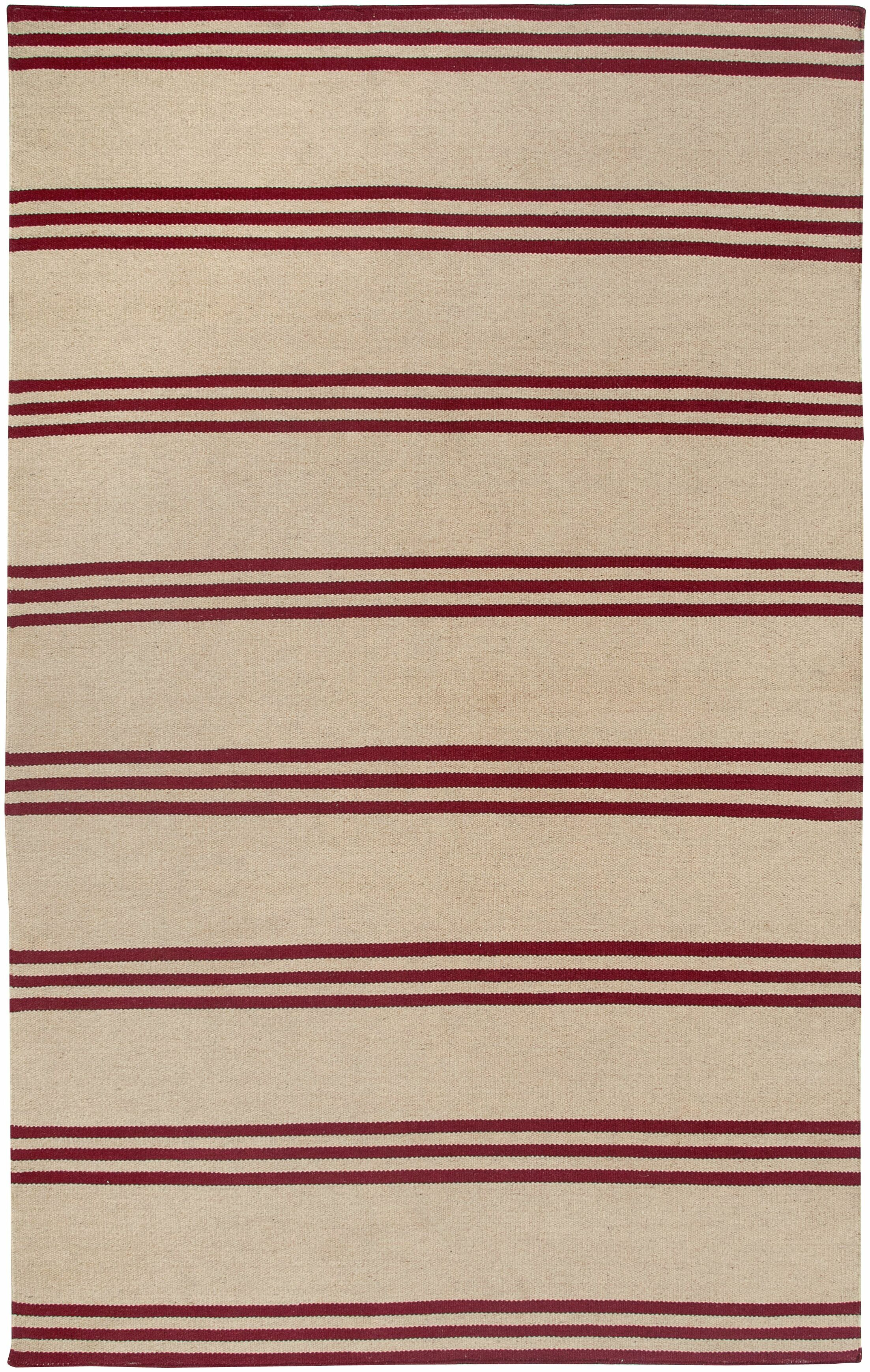 Hand-Woven Red/Beige Area Rug Rug Size: Rectangle 8' x 10'
