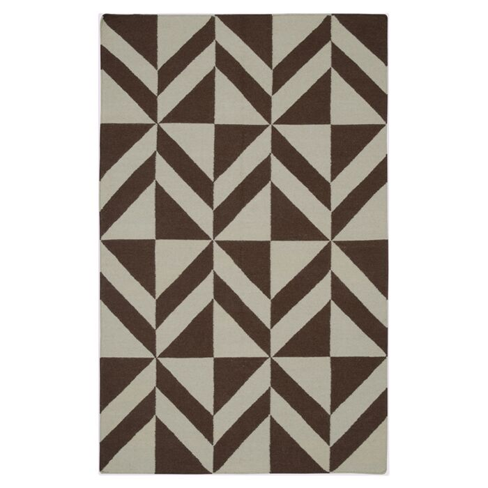 Hand-Woven Brown Area Rug Rug Size: Rectangle 8' x 10'