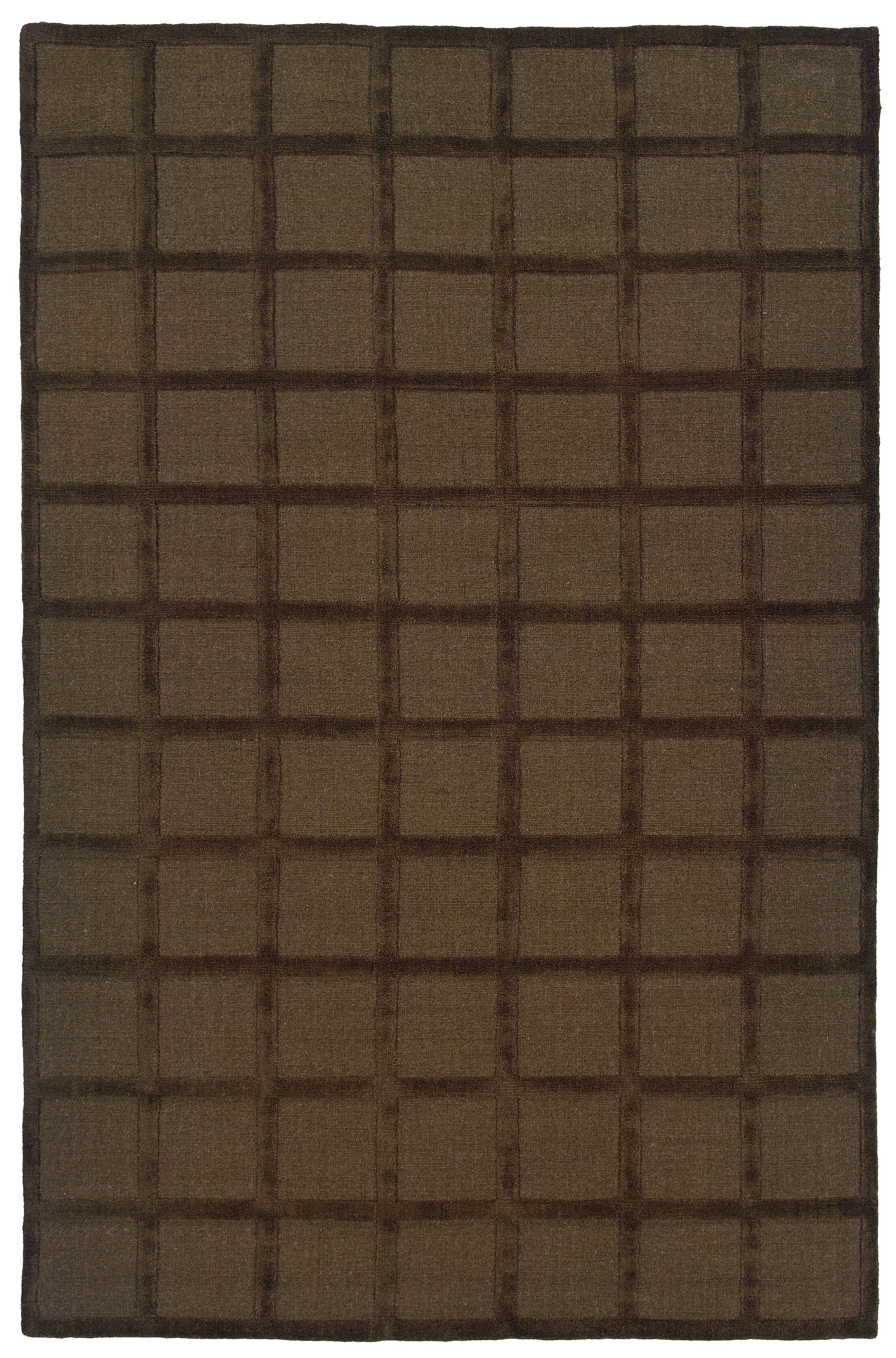 Brown Area Rug Rug Size: Rectangle 5' x 8'
