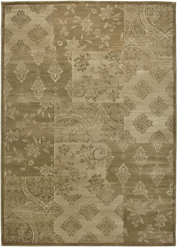 Green Area Rug Rug Size: Rectangle 5'3