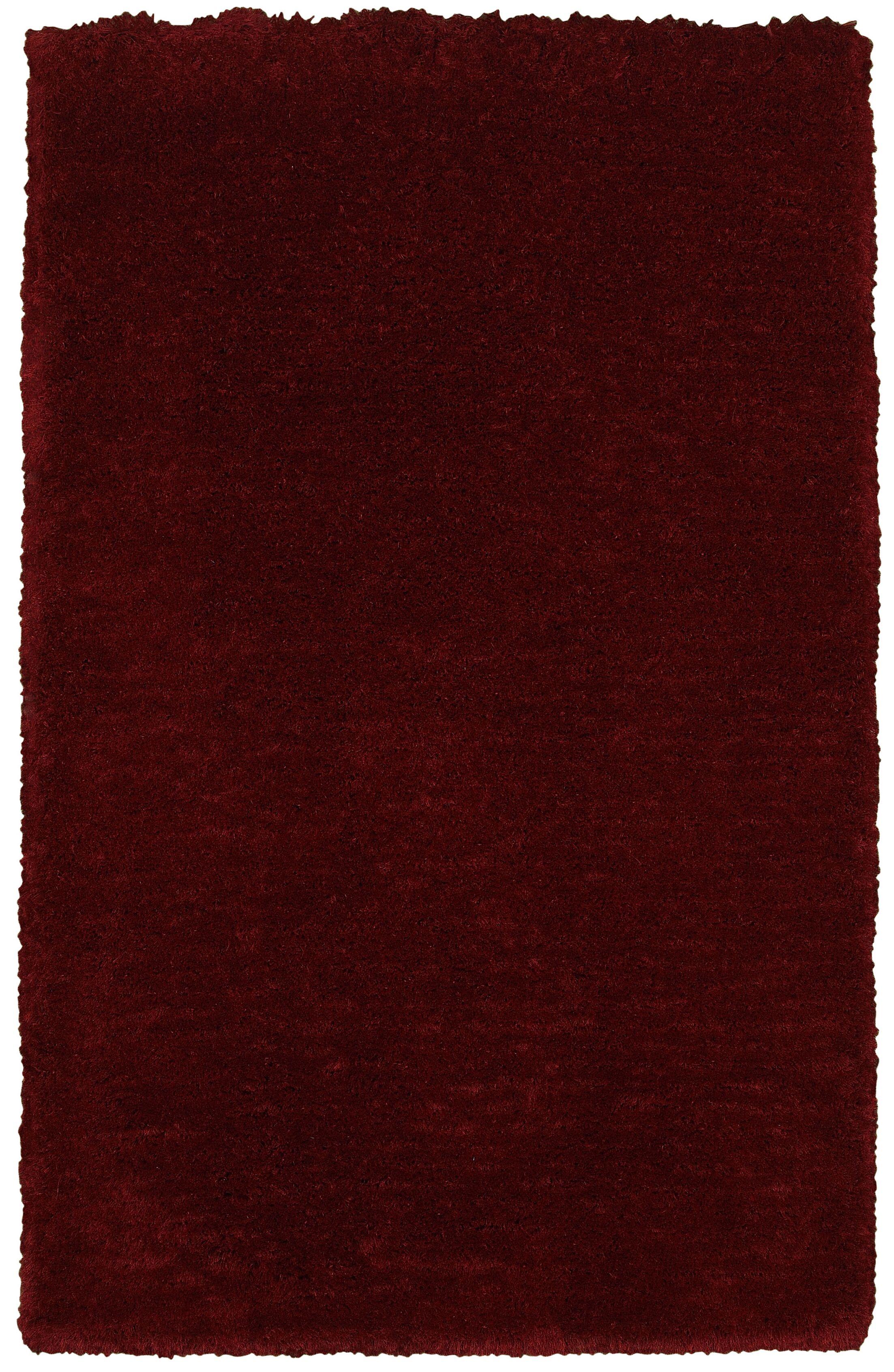 Mathena Hand-Woven Burgundy Area Rug Rug Size: Rectangle 8' x 10'