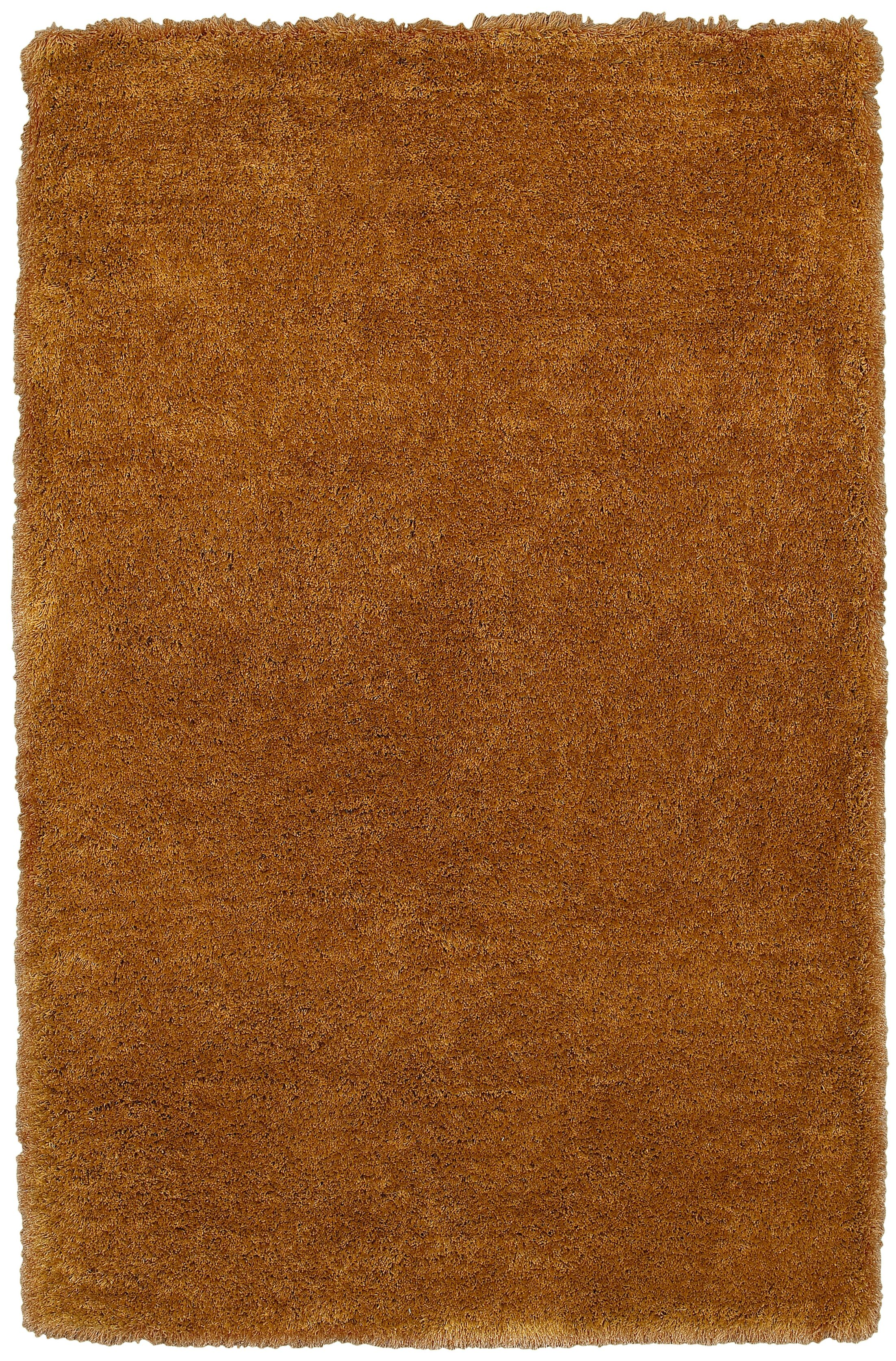 Mathena Hand-Tufted Gold Area Rug Rug Size: Rectangle 8' x 10'