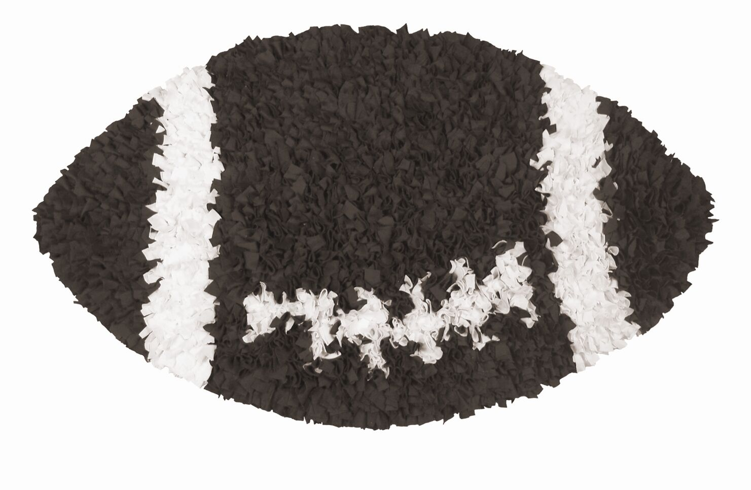 Hand-Woven Brown/White Area Rug Rug Size: Football 3' x 3'