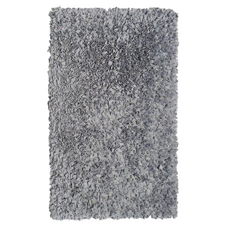 Hand-Woven Silver Area Rug Rug Size: Rectangle 2'8