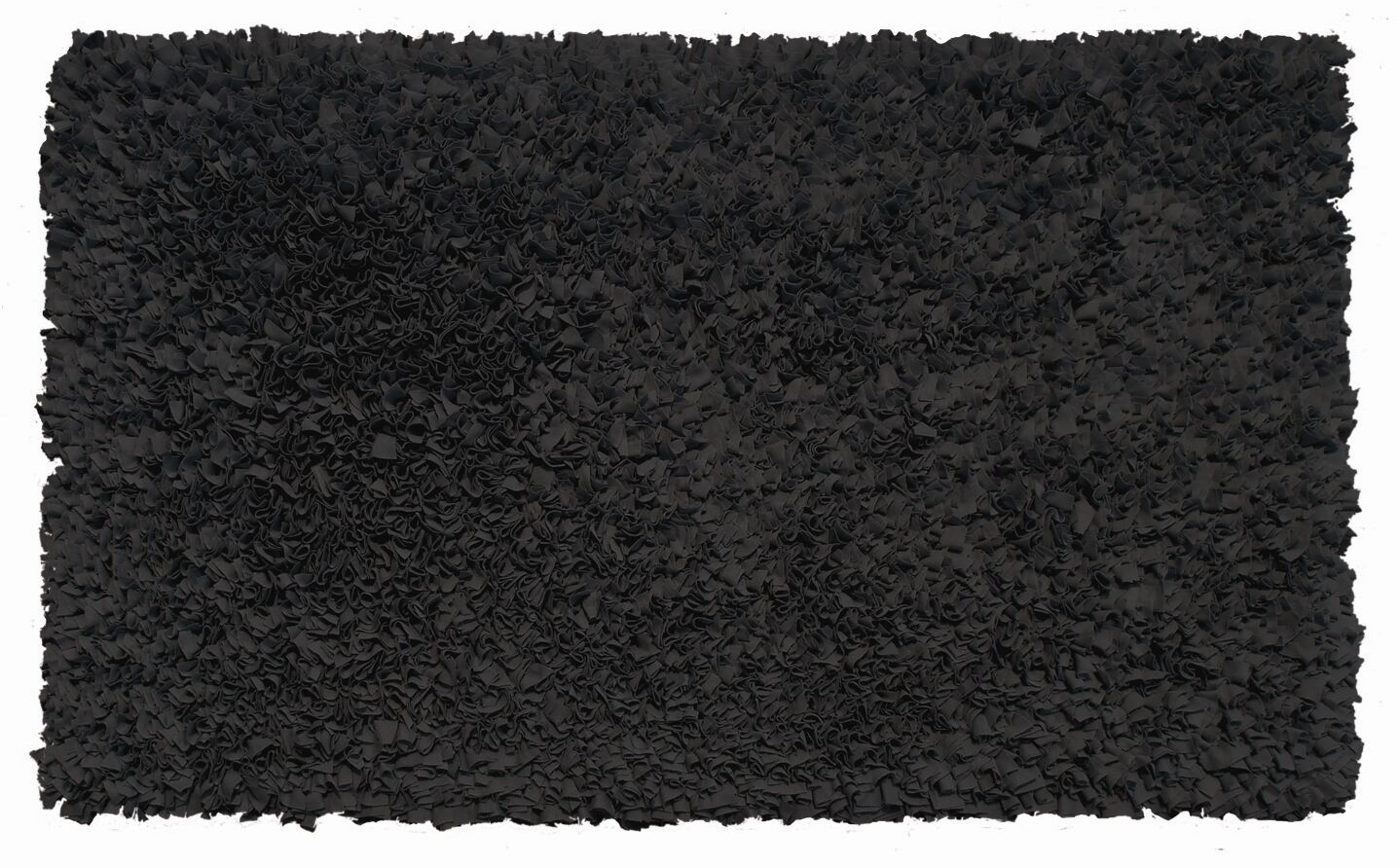 Hand-Woven Black Area Rug Rug Size: Rectangle 2'8
