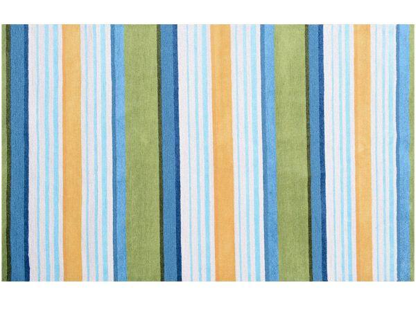 Handmade Blue/Green Outdoor Area Rug Rug Size: Rectangle 7'6