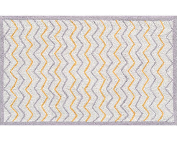 Hand-Hooked Cream Area Rug Rug Size: Rectangle 4'7
