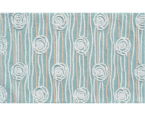 Hand-Hooked Teal Area Rug Rug Size: Rectangle 2'8