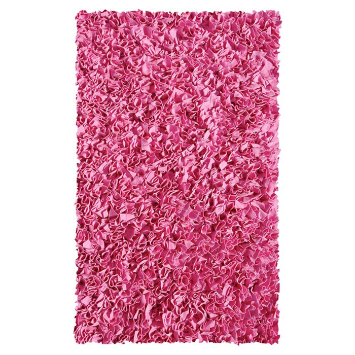 Hand-Woven Bubble Gum Area Rug Rug Size: Rectangle 2'8