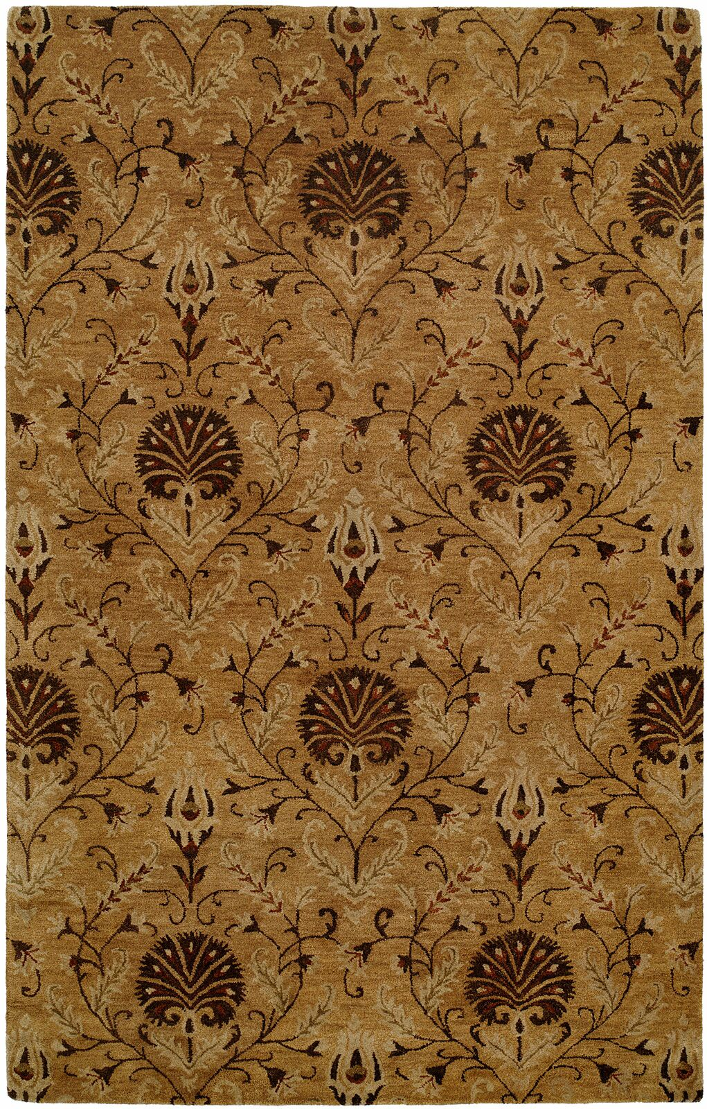 Hand-Tufted Ivory Area Rug Rug Size: 9' x 12'