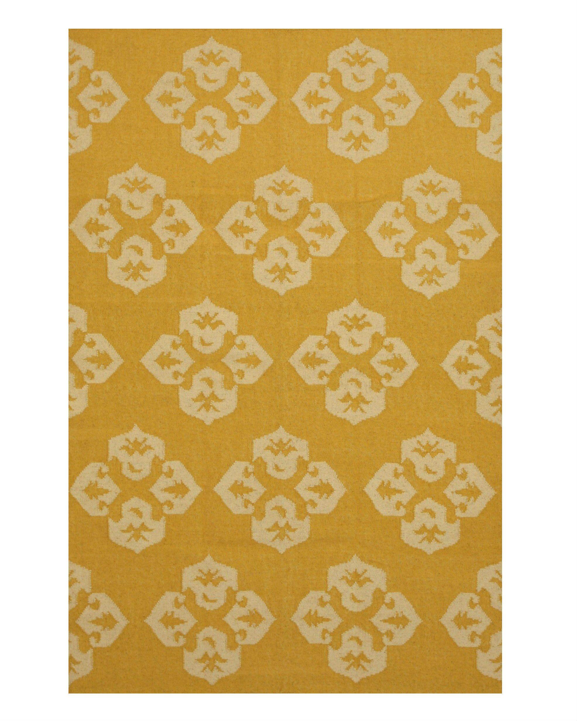 Handmade Gold Area Rug Size: Rectangle 9' x 12'
