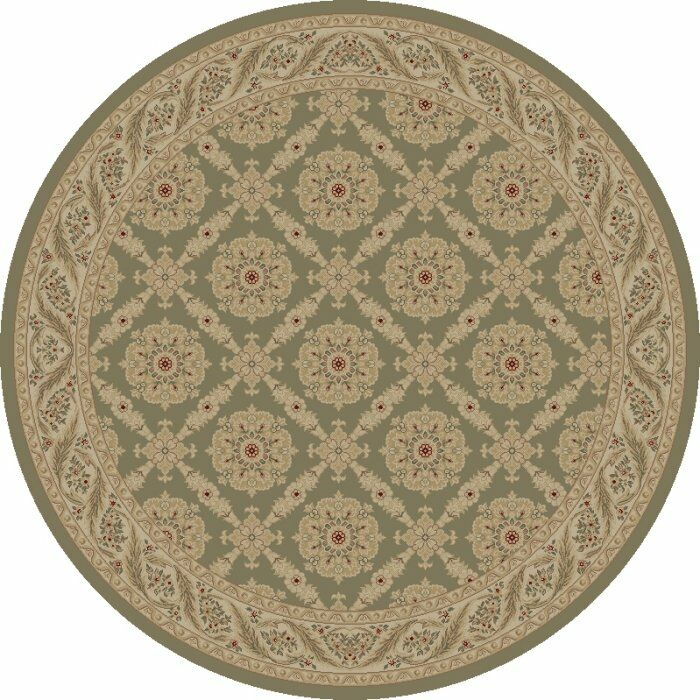 Heather Green Aubusson Area Rug Rug Size: Rectangle 5'3