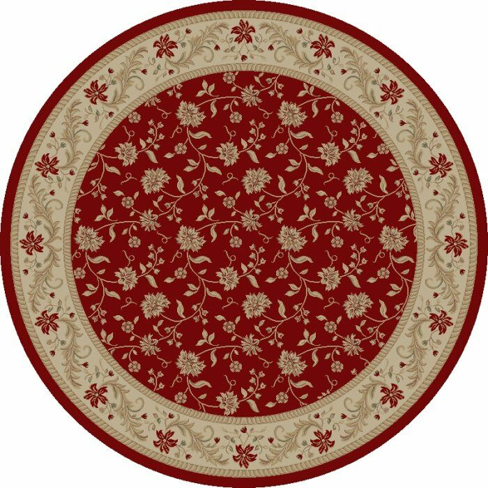 Imperial Charlemagne Red Serenity Area Rug Rug Size: Round 5'3