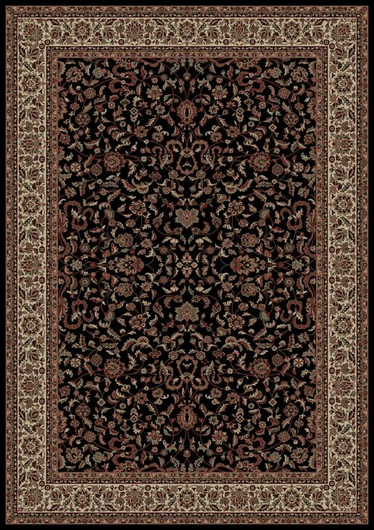 Persian Classics Black Oriental Kashan Area Rug Rug Size: Rectangle 10'11