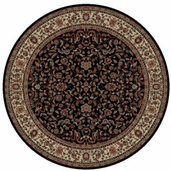 Persian Classics Black Oriental Kashan Area Rug Rug Size: Round 7'10